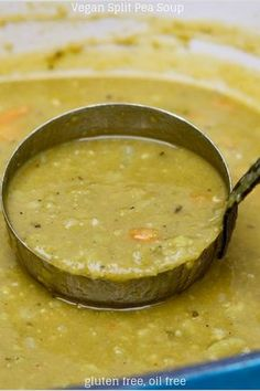 Best Vegan Split Pea Soup (Slow cooker option) – The Cheeky Chickpea This rich, healthy and hearty Vegetarian Split Pea Soup Recipe is delicious and easy. It's the best soup, oil free, gluten free and it can easily be made in a slow cooker. Crock Pot Recipes, Pea Recipes, Slow Cooker Recipes, Whole Food Recipes, Cooking Recipes, Fast Recipes, Recipes For Soup, Greek Recipes, Light Recipes