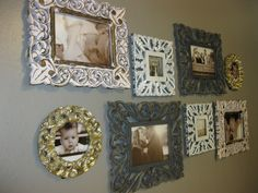 Love these frames. Thought I could paint them a bright color to match the crib.