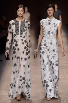 valentino spring summer 2013 print gowns sleeves