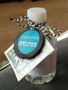 Hangover Helper Tag Customizable  Set of 25 by CraftyCoordinations