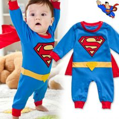 Superman Baby Infant Kid Child Toddler Grow Onesie Bodysuit Romper Jumpsuit Coverall Outfit Clothing Costume One-Piece