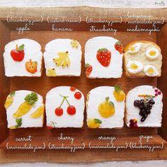 この素朴さがツボ♡ジャムで描く「#トーストアート」が可愛すぎ - LOCARI(ロカリ) Cute Snacks, Cute Desserts, Cafe Food, Food Menu, Baby Food Recipes, Snack Recipes, Cooking Bread, Aesthetic Food, Food Humor