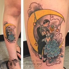 1920's Lovers tattoo by Joshua Ross at Mind's Eye Tattoo in Emmaus, Pa. https://www.facebook.com/artronin9 #tattoo #tattoos #tattooing #tattooed #love #mindseyetattoo #lehighvalley #Pennsylvania  #allentown  #Emmaus #1920s #love