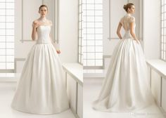 3d Floral Appliques Custom Wedding Gown Iullsion Neck Half Sleeve Elegant Bateau Neck Floor Length Cheap Price Vintage Design Sexy Photos Of Dresses Pictures Of Wedding Gowns From Lovemydress, $140.21| Dhgate.Com