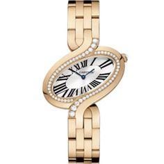 Cartier WG800006 Delices De Cartier Quartz Large - швейцарские женские часы наручные, золотые с бриллиантами