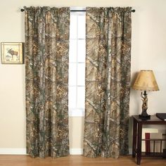 """Realtree Tan Camouflage 84"""" Window Panel Pair: - I don't think so!"""