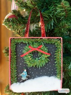 christmas ornaments diy shadowbox, christmas decorations, crafts, how to, seasonal holiday decor