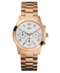 GUESS Watch, Women's Chronograph Rose Gold Tone Bracelet
