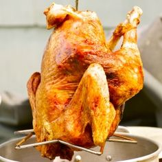 How to deep fry a whole turkey in under an hour, plus a recipe for injectable marinade.