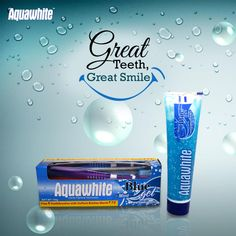 Aquawhite Blue Mint gel toothpaste cares for your mouth, helping you keep it healthy and happy.