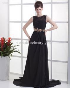 Wholesale Elegant Trumpet/Mermaid High Collar Neckline Floor-Length Chiffon Evening Dress, Free shipping, $105.68/Piece | DHgate