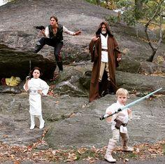 """La famille de Neil Patrick Harris déguisée en personnages de """"Star Wars"""""""