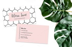 Honey Comb Business Card Template by Ally and Janine on @creativemarket