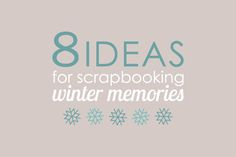 scrapbook ideas for winter pages