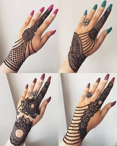 Comment with your favorite henna design. From - Tattoo - Henna Designs Hand Full Mehndi Designs, Mehndi Designs For Girls, Mehndi Designs For Beginners, Mehndi Design Photos, Mehndi Designs For Fingers, Beautiful Henna Designs, Bridal Mehndi Designs, Henna Tattoo Designs, Bridal Henna