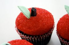 Super Cute dessert for Rosh Hashana! Don't think I will ever make them :) But love the way they look!