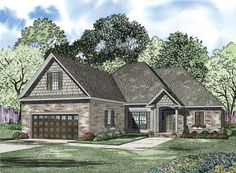 This 1 story Modern features 2769 sq feet. Call us at 866-214-2242 to talk to a House Plan Specialist about your future dream home!