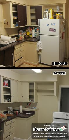 the before and after photos of a complete home renovation we did in