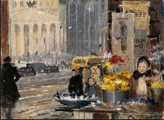 YURI PIMENOV -Paper Flowers and Snow (1945)