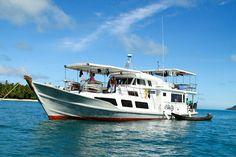 The Aileoita Yacht Charter cruising through the Mentawai Islands in Indonesia. #Yacht #Surfing #Boat
