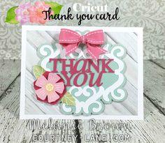 Cricut Thank you card