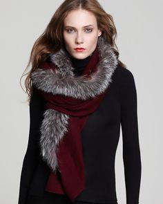 Charlotte & Lisa Center Fur Scarf | Bloomingdale's