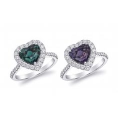 Natrual Alexandrite Engagement Ring Natural Alexandrite with excellent color change 3.13 carats set in Platinum Ring with Diamonds / AGTA Report