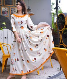 Magnificent Fancy Kurti Fabric: Rayon Sleeves: Sleeves Are Included Size: S - 36 in M - 38 in L - 40 in XL - 42 in. Kurti Neck Designs, Dress Neck Designs, Kurta Designs Women, Kurti Designs Party Wear, Blouse Designs, Design Of Kurti, Salwar Designs, Indian Designer Outfits, Designer Dresses