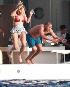 This picture was taken by paparazzi while enjoying a vacation with his wife. Little known to him, Jay Z's status helped to create this image into its own meme. Check out this pin to see some funny photoshopped images! #MRK634 #JayZ