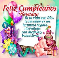 Happy Birthday Wishes Cake, Happy Birthday Brother, Happy Birthday Celebration, Feliz Compleanos, Good Morning In Spanish, Birthday Qoutes, Lily, Baby Shower, Christmas Ornaments
