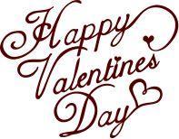 Happy Valentine's Day - A free SVG & DXF sentiment download by Kabram Krafts