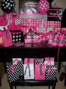Image Search Results for pink and black birthday partys
