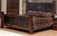 Copper Creek King Bed - Rustic - Western - Free S/H - Bedroom Set - Dark Stain -