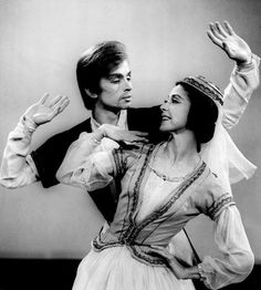 Fifty years ago tonight, 19 November 1963, Rudolf Nureyev and Margot Fonteyn pose during rehearsal for the first episode of a new BBC TV show called 'Gala Performance'. They danced a pas de deux from Khachaturyan's 'Gayaneh' and the pas de deux from Act III of 'Swan Lake'.
