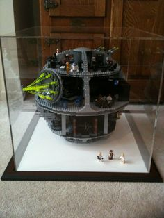lego 10188 death star display case love the idea of saving lego sets this way lego storm. Black Bedroom Furniture Sets. Home Design Ideas