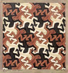 Lizard, by Mc Escher Mc Escher, Escher Kunst, Escher Art, Escher Drawings, Escher Tessellations, Tessellation Art, Op Art, Drawn Art, Groomsmen