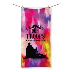 I Support our Troops LGBT Beach Towel