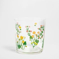 Floral design glass - Glassware - Tableware | Zara Home United States $6.90