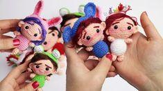 Amigurumi llavero muñecas pequeñas chibi, patrón paso a paso - YouTube