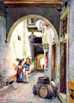Medieval, Ancient Civilizations, Lisbon, Portugal, Stock Photos, Painting, Image, Illustrations, 81