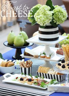 Champagne and cheese party.