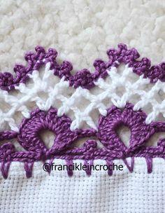 Crochet Slipper Pattern, Crochet Edging Patterns, Crochet Lace Edging, Crochet Borders, Crochet Designs, Crochet Flowers, Easy Crochet, Crochet Blanket Border, Crochet Stitches For Beginners