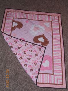 Baby Girl Hearts Quilt