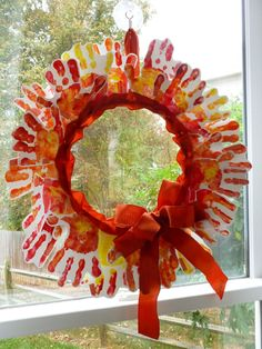 Handprint Fall Wreath - Inspired by…