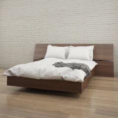 Nexera Alibi Platform Bed with Panoramic Headboard - 400690