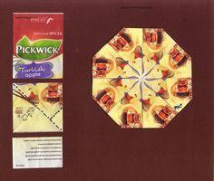 Pickwick Turkish Apple Octagon Show & Describe = Török Alma Leíró A nyolcszög elemei 4-4 hajtással készültek a Pw Turkish Apple tasako...