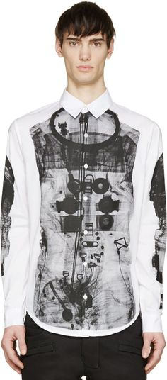 Hood by Air White Astronaut Button-Up Shirt