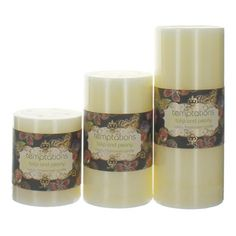 Temptations Flower Tulip Pillar From £3.95 #candle #home #luxury