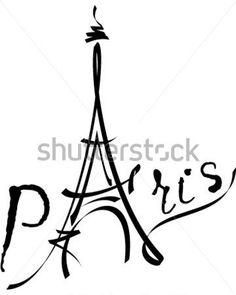 Ilustración DE Vector Negro Torre Eiffel vectores en stock - Clipart.me