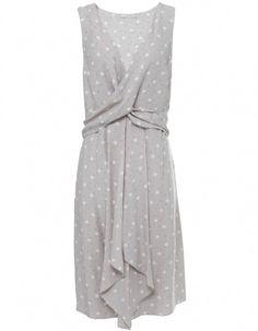 Champagne Spot Twist Dress